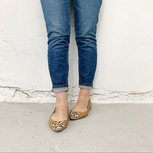 Chinese Laundry Leopard Spike Pointed Flats Sz 10